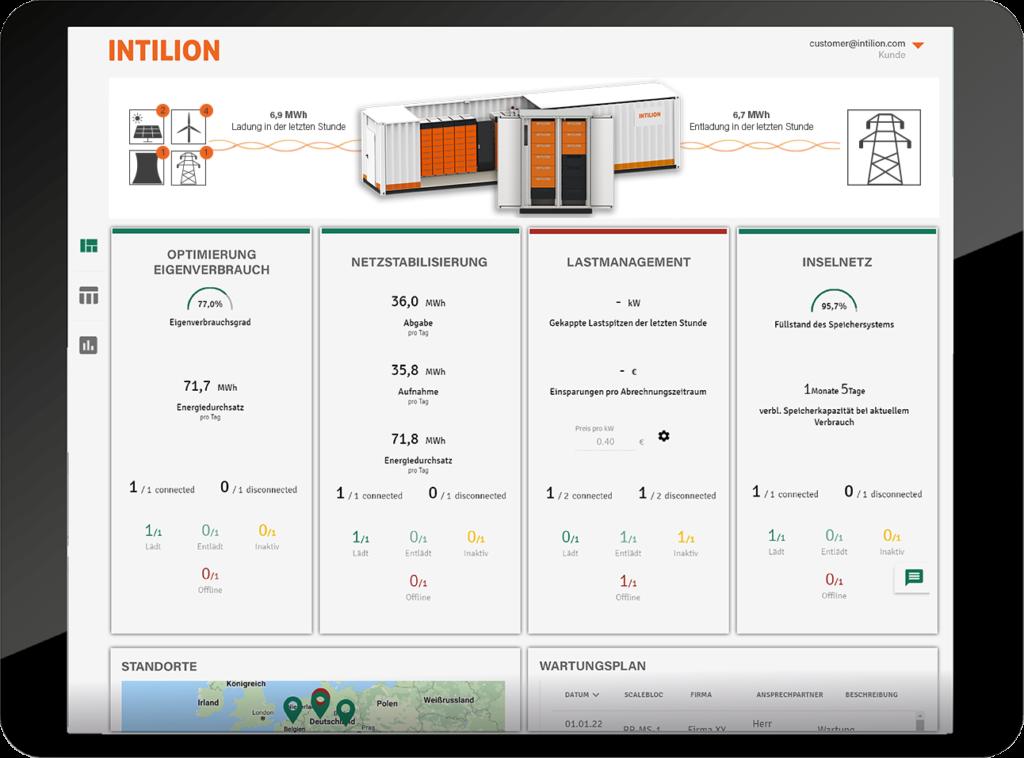 Energiemanagementsystem für Groß- und Gewerbesspeicher