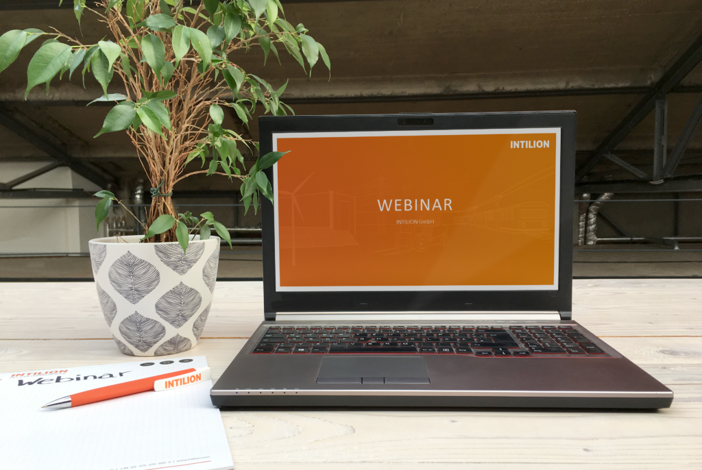 Webinars at INTILION Table Flower Laptop