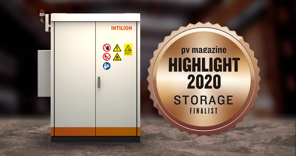 "Award ""'Finalist"" among the pv magazine Storage Highlights 2020"