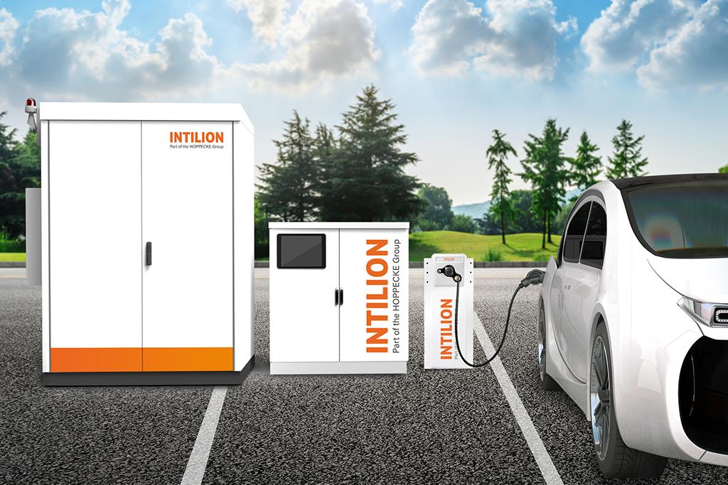 Infrastruktur Elektromobilität mit Stromspeicher Intilion