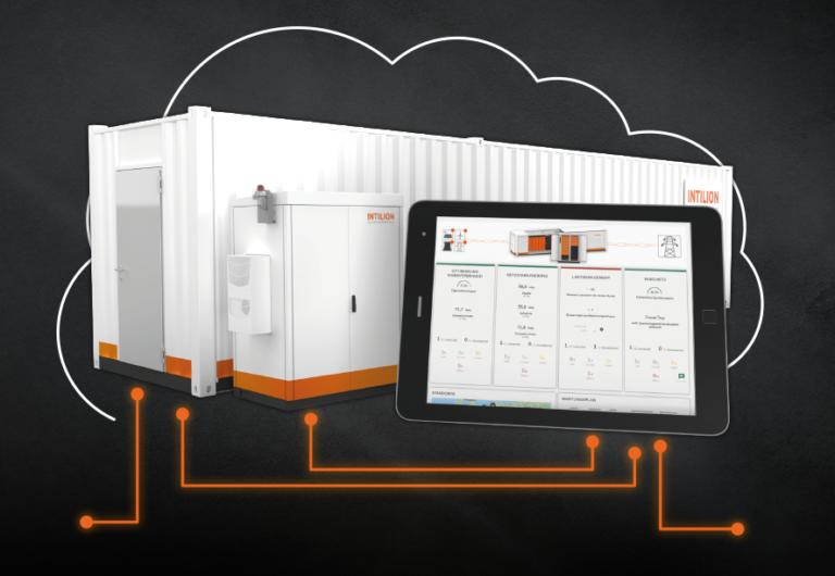 Cloud Services und Data Monitoring Batteriespeicher INTILION
